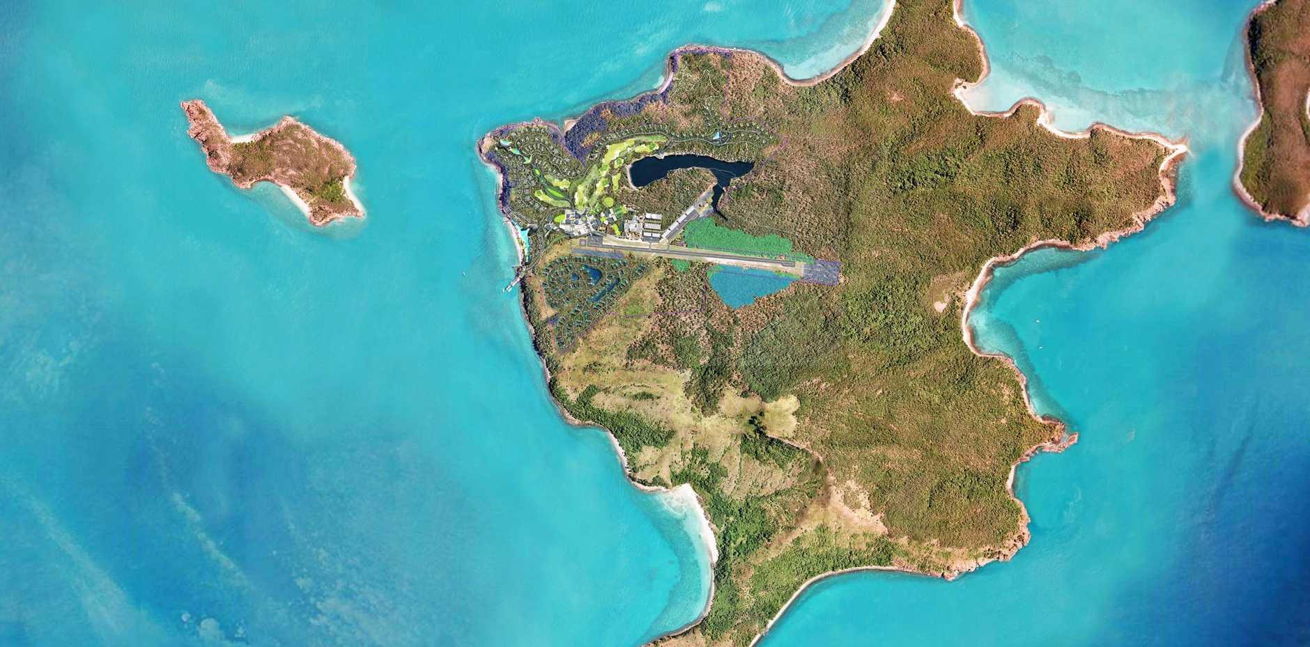 Lindeman Island - an aerial view.