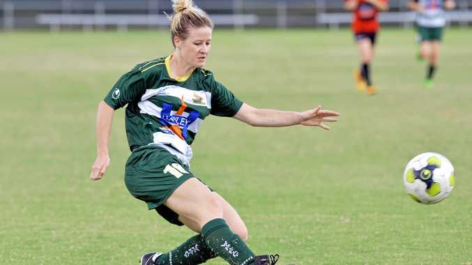 GOAL SCORED: Western Pride's Nicole Quinn will be delighted at the news Football Queensland has reinstated the women's teams in the statewide competition for 2018.