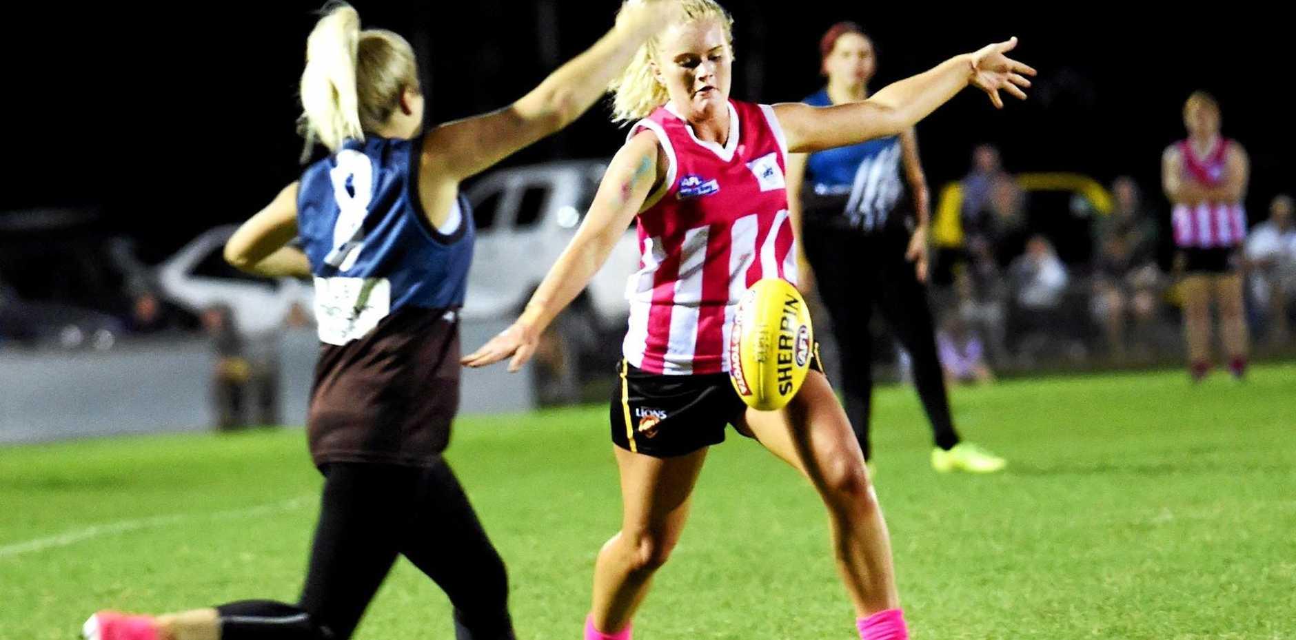 AFL Women's exhibition match - Hervey Bay Bombers versus Bay Power.
