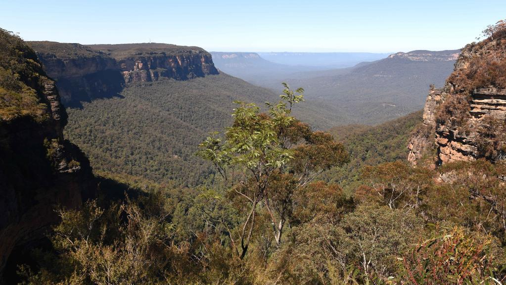 A woman has suffered a fall at Wentworth Falls in the Blue Mountains.