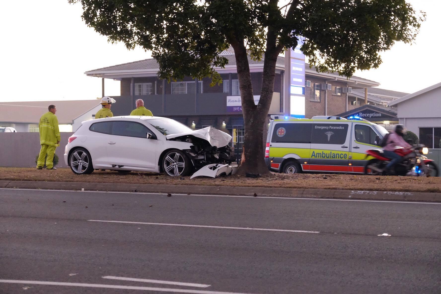 The scene of the crash on Takalvan St.