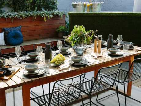 Every part of this table setting can be bought from Kmart, with pieces starting at $1.50. Picture: Kmart/Kit HaseldenSource:Supplied