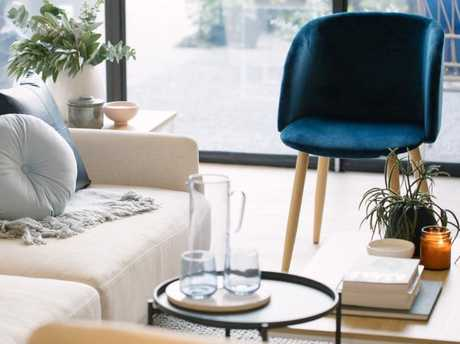 The velvet chair costs $39. Picture: Kmart/Kit HaseldenSource:Supplied