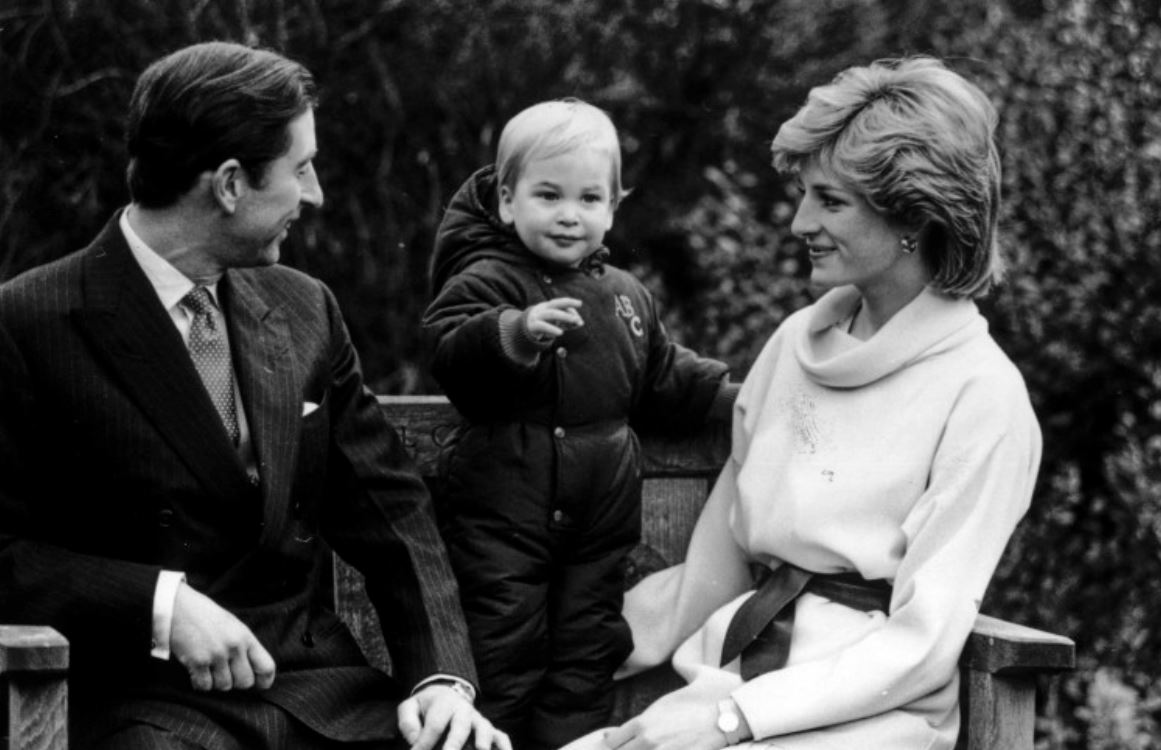 Princess Diana with Prince Charles and their first son Prince William in 1983
