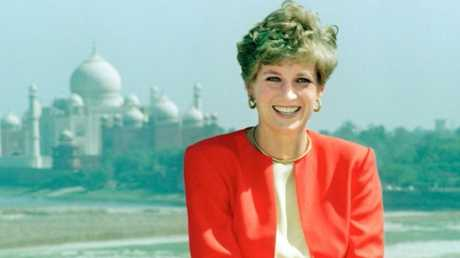 Princess Diana smiling for photographer Arthur Edwards of the Sun at the Red Fort palace in Agra, India - before heading off to the Taj Mahal.