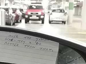 Elderly woman leaves scathing note after carpark scrape