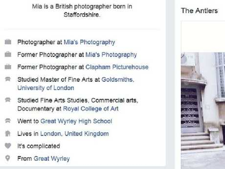The amount of detail in the Mia Ash profile made it appear like a real person.Source:Supplied