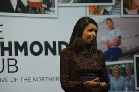 Turia Pitt spoke to Northern Rivers business leaders in Ballina on Friday night.