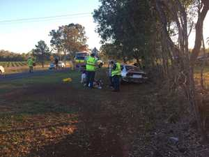 Eight people involved in high-impact, three-car smash