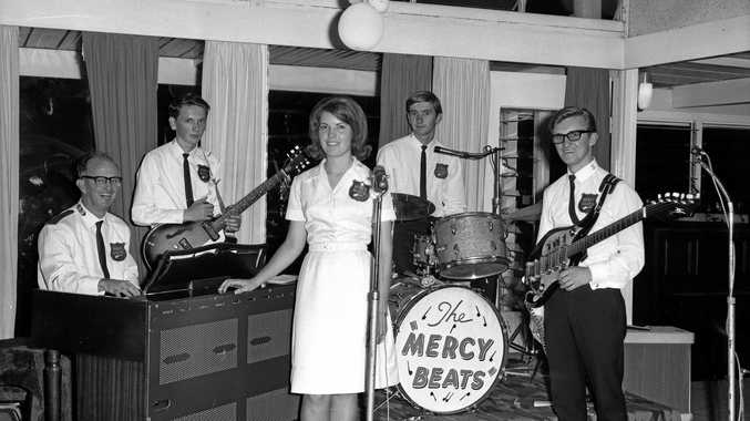 Popular local band The Mercy Beats, pictured during a gig at the Maroochydore Hotel,  was made up of Salvation Army officers.