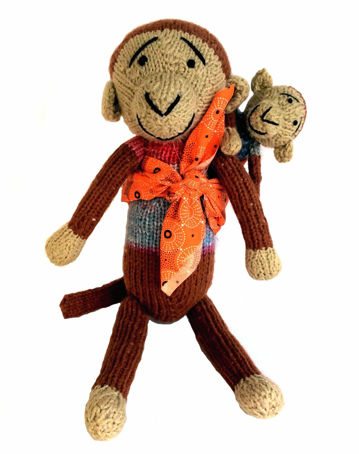 A knitted GoGo teddy from Ciommunity Projects Worldwide.