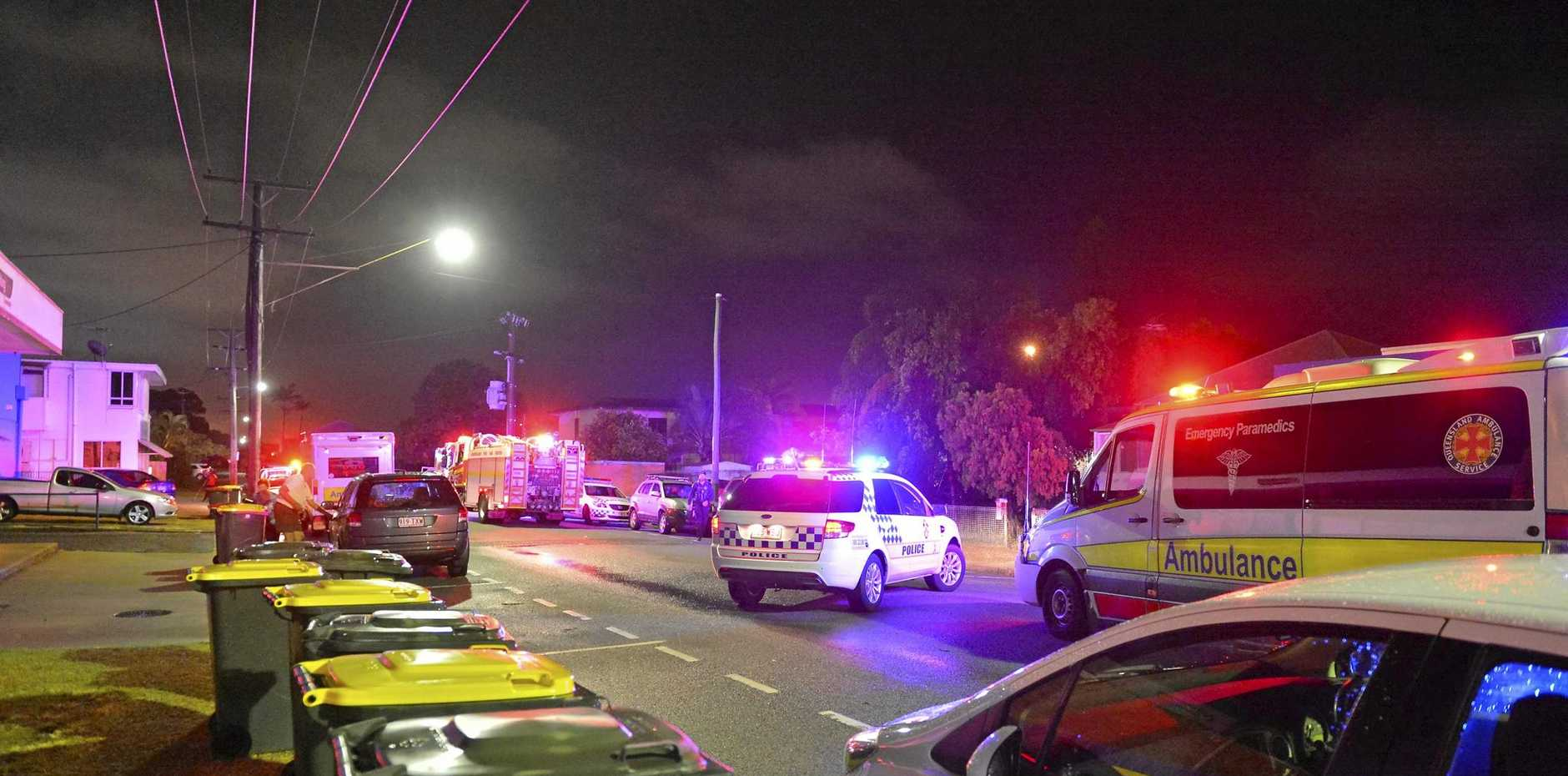 HORRIBLE: The accident at the Queensland Rail Institute left one woman dead.