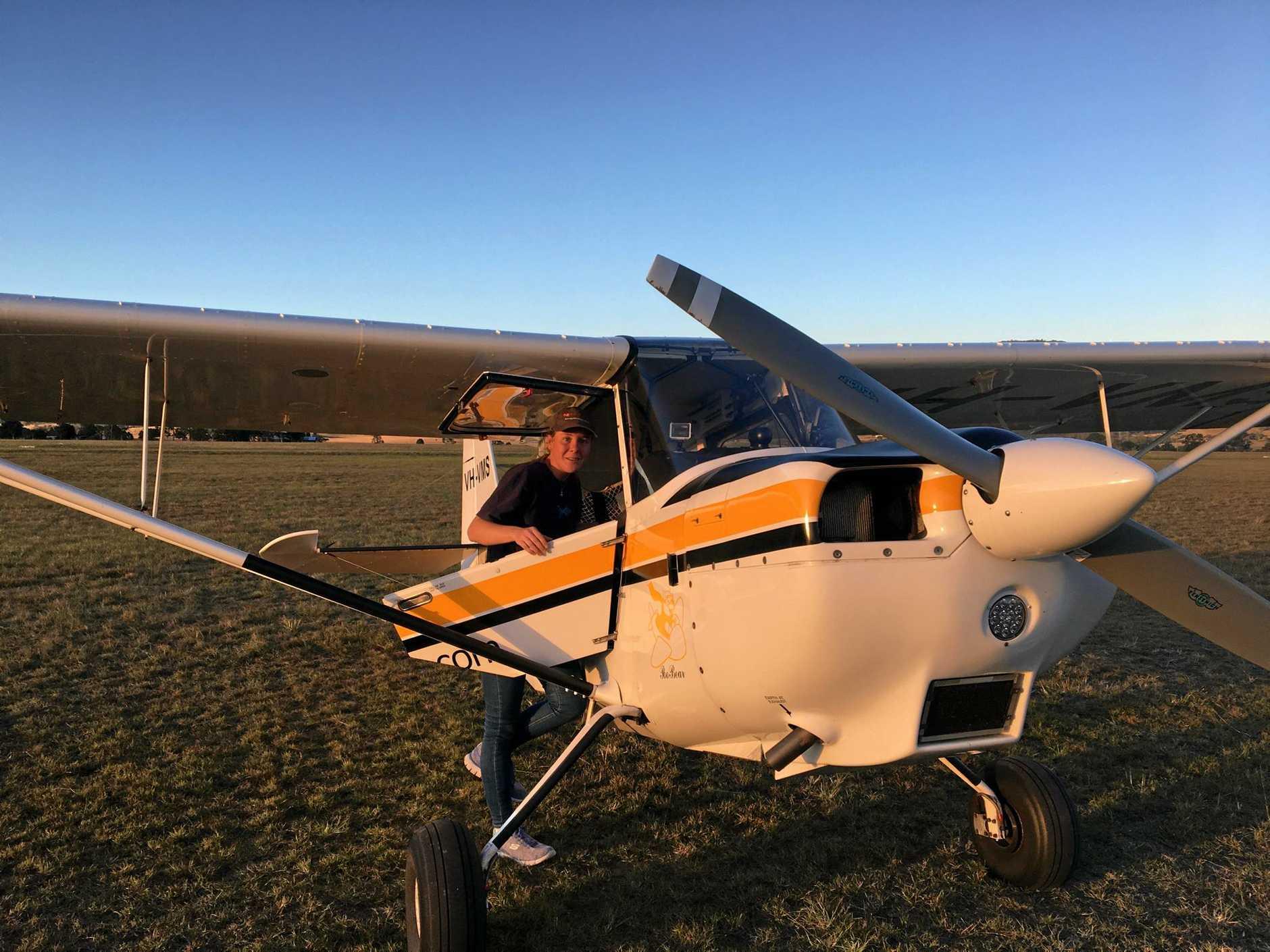 Aerobatics pilot Nina Burkardt.