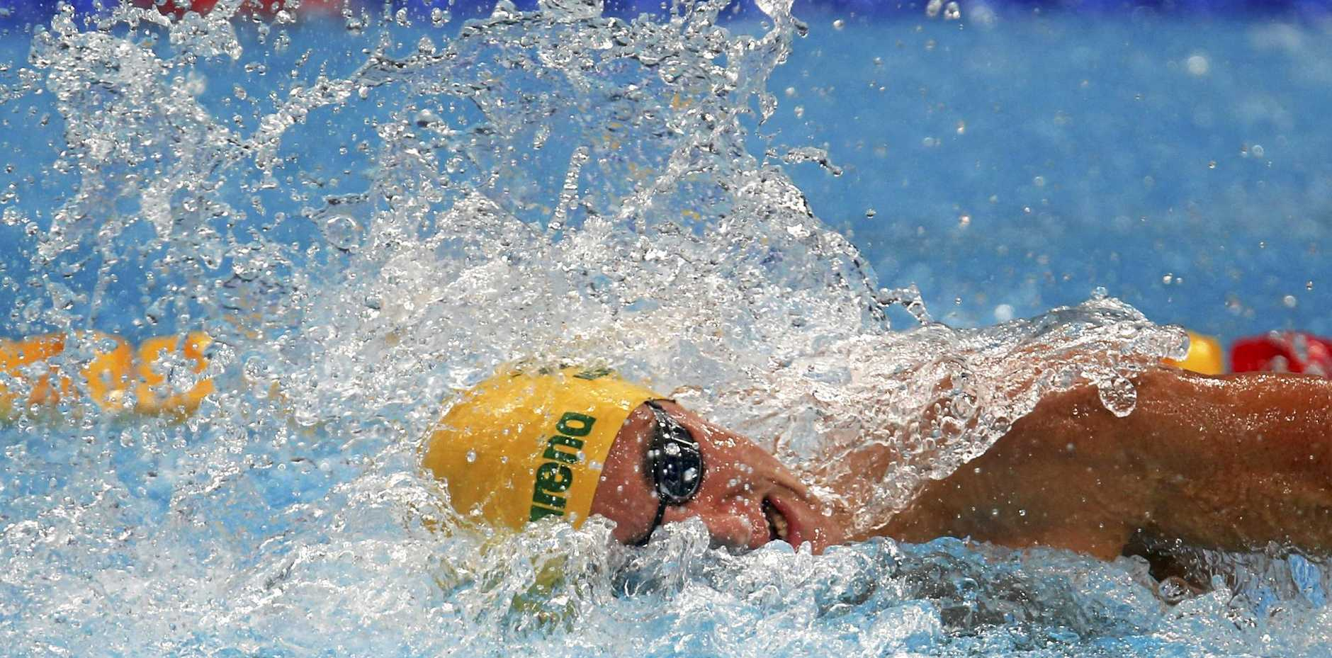 Australia's Cameron McEvoy competes in a men's 100m freestyle heat at the world championships in Budapest.