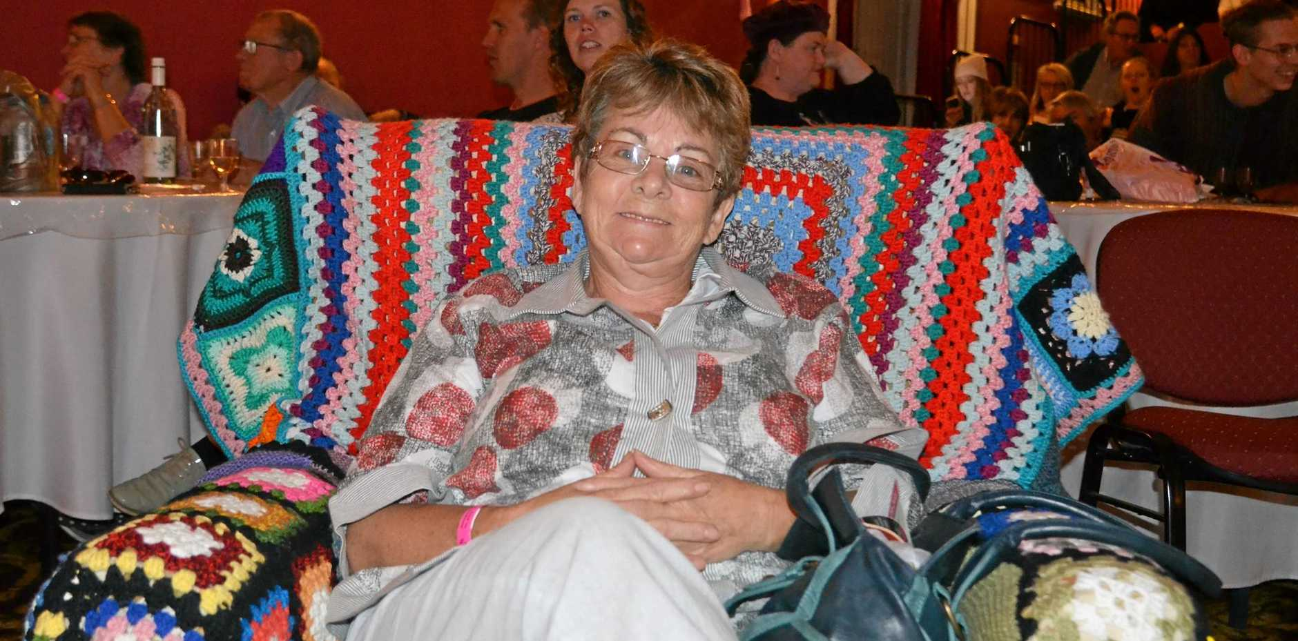 TRAVELLER: Karen Walsh made the trip from Darwin to join the fun of Jumpers and Jazz in July.