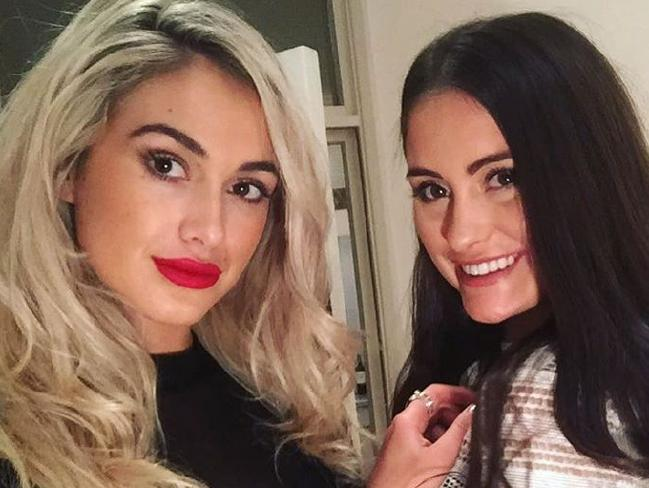 Australian model Isobella Fraser (left) and sister Prue were both victims of an acid attack in a London nightclub on April 18, 2017. Source: FACEBOOK