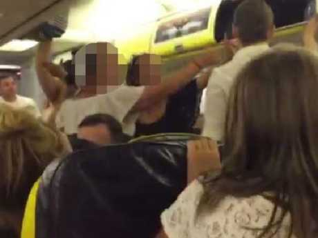 A group of women caused a ruckus on a European flight.