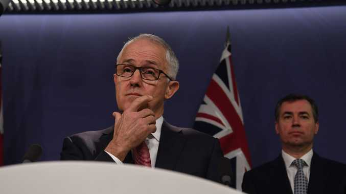 Australian Prime Minister Malcolm Turnbull reacts during an address to media at the Commonwealth Parliamentary Offices, Sydney, Sunday, July 30, 2017 following yesterdays counter terror raids. Four men have been arrested after the NSW Joint Counter Terrorism team conducted raids throughout Sydney suburbs. (AAP Image/Sam Mooy) NO ARCHIVING