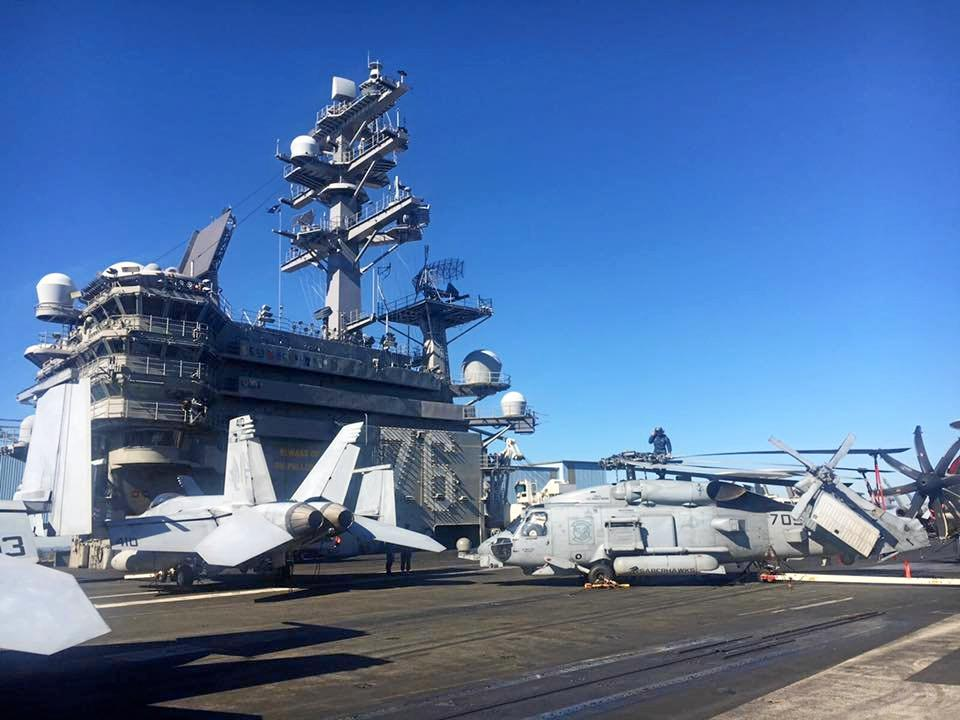 WOW:  Gladstone Region Mayor Matt Burnett was invited on board the USS Ronald Reagan (CVN 76).