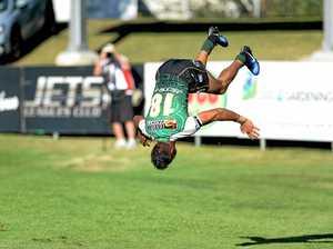 Jets speedster flips finals race on head