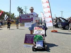 1200km journey to combat child abuse ends in Toowoomba
