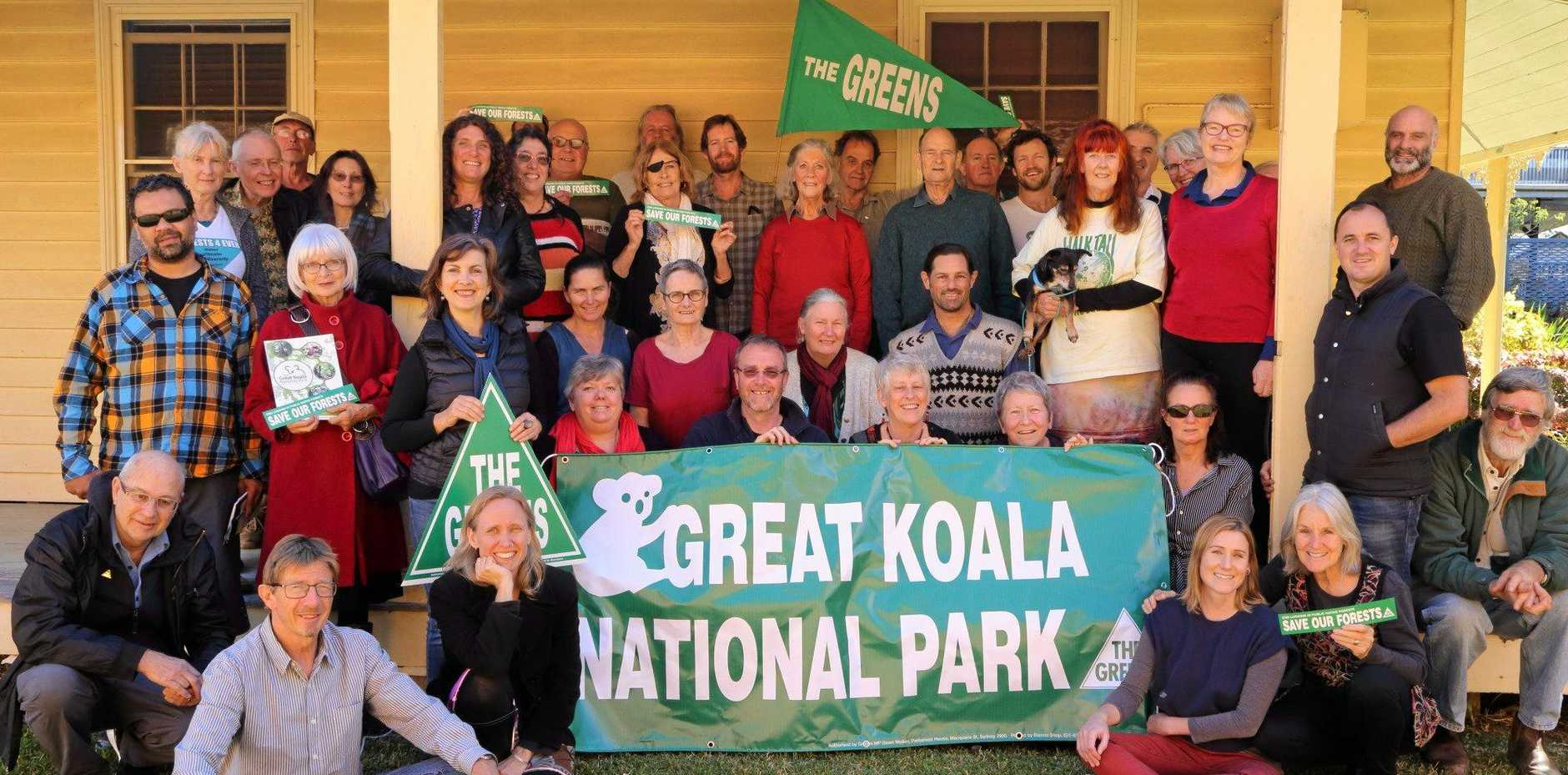 Greens supporters in Bellingen attended a Forest Summit to discuss issues surrounding forests in the local region.