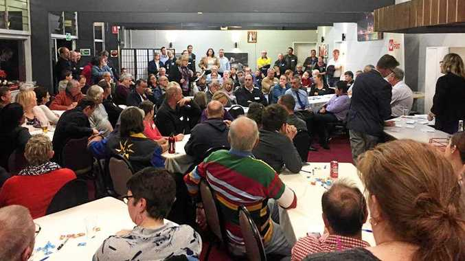 COMMITTED: Hundreds attended a meeting at Mt Crosby Bowls Club to support a change to postcode 4306.