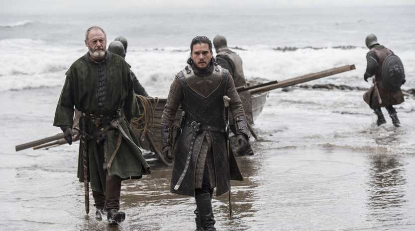 Liam Cunningham (left, who plays Davos Seaworth) has revealed the tight security surrounding final Game of Thrones scripts.