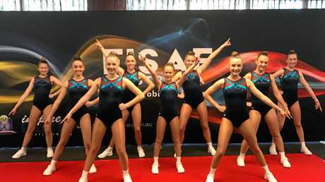 The St Mary's College team perform an impressive routine at Chandler.