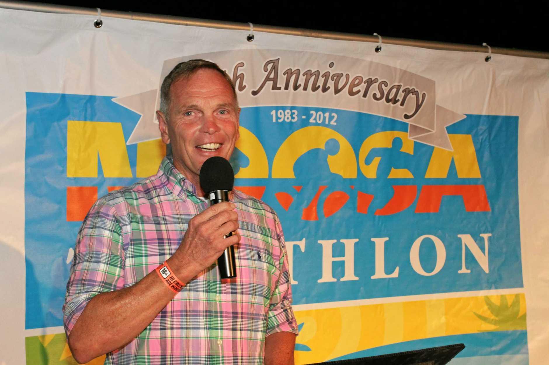 USM founder Garth Prowd at the 30th Anniversary Noosa Triathlon Multi Sport Festival launch.