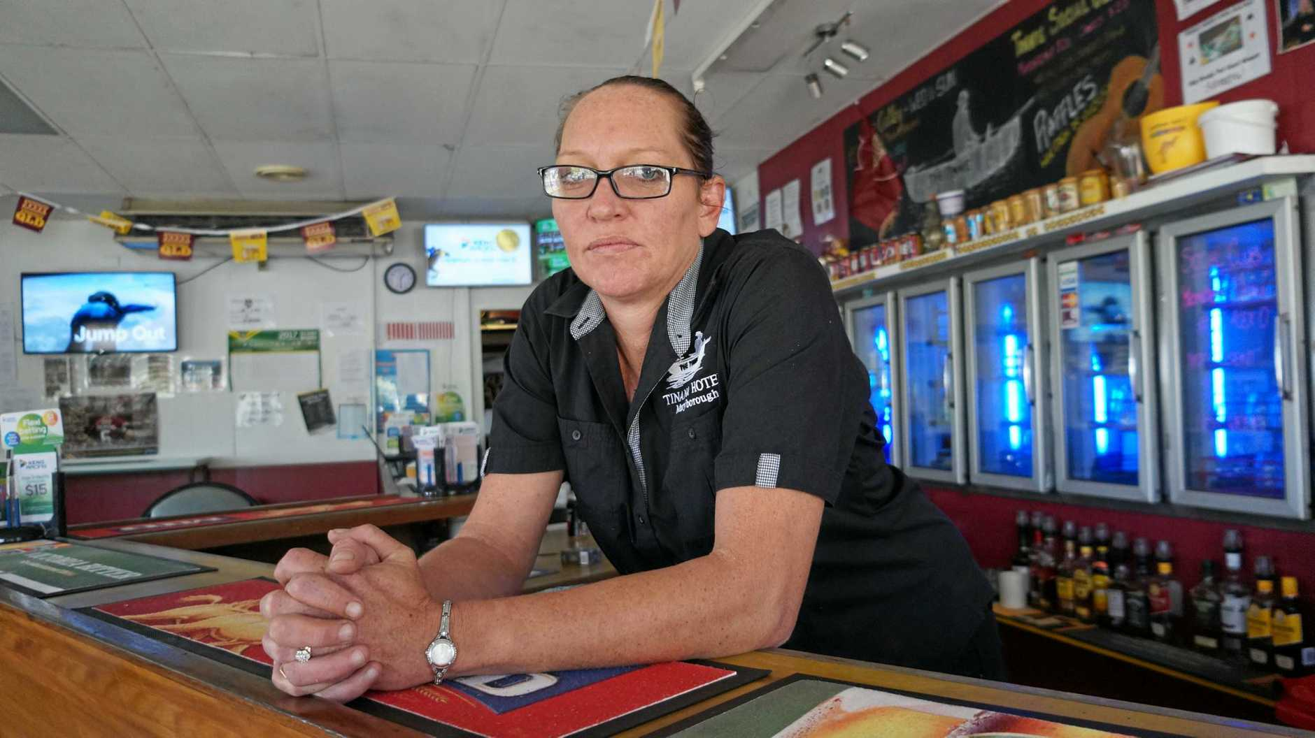 OUT OF POCKET: Co-owner of the Tinana Hotel Samantha Martin says Saturday night's robbery has caused financial setback for her business and family.