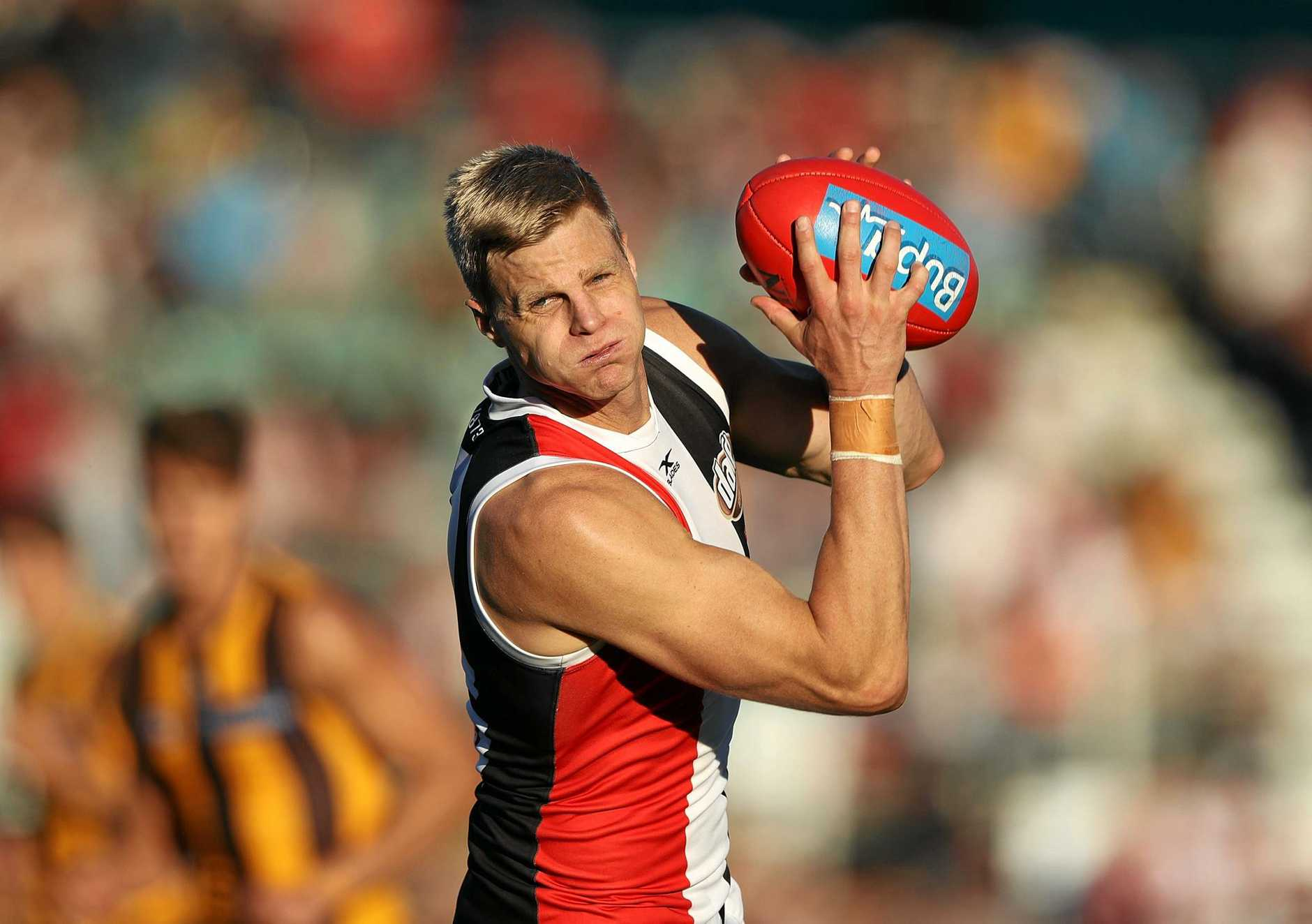 MARCHING OUT: His 17th season in the AFL will be Saint great Nick Riewoldt's last.