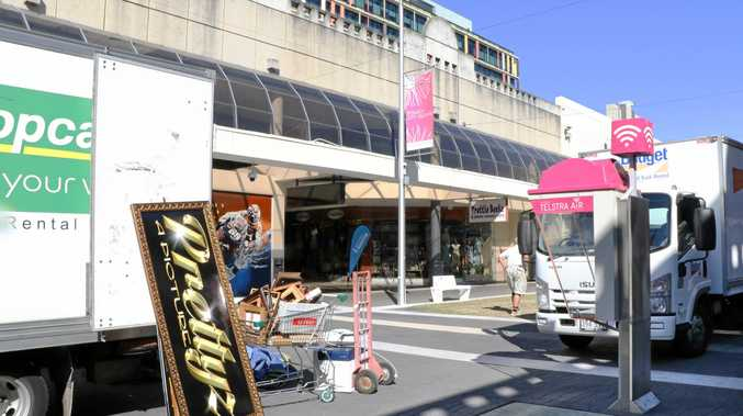 Shops are closing down during the redevelopment of the Ipswich Mall.