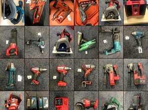 Raid uncovers massive haul of power tools