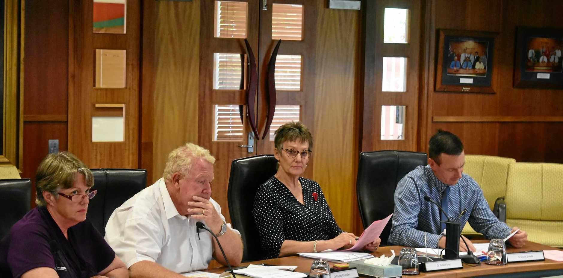 Deputy Mayor Jan Chambers, Cr Peter Flynn, Cr Puddy Chambers and Cr David Schefe.