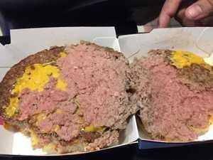 Raw McDonald's beef patty sickens mum