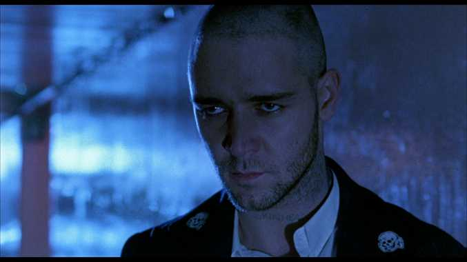 Russell Crowe in a scene from the movie Romper Stomper.