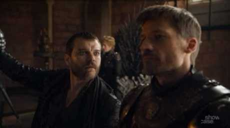 Pilou Asbæk and Nikolaj Coster-Waldau in a scene from season 7 episode 3 of Game of Thrones.