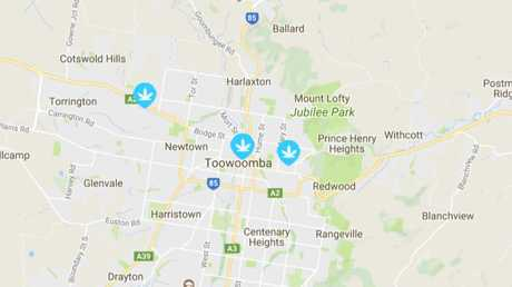 The site lists three users in Toowoomba