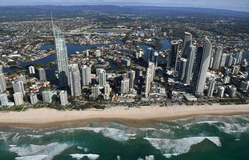 A general view of Surfers Paradise Beach on the Gold Coast, Wednesday, May 17, 2017.