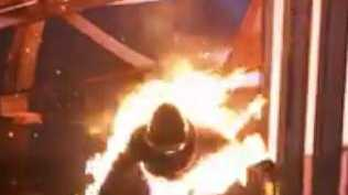 Mel Goh's on set stunt.