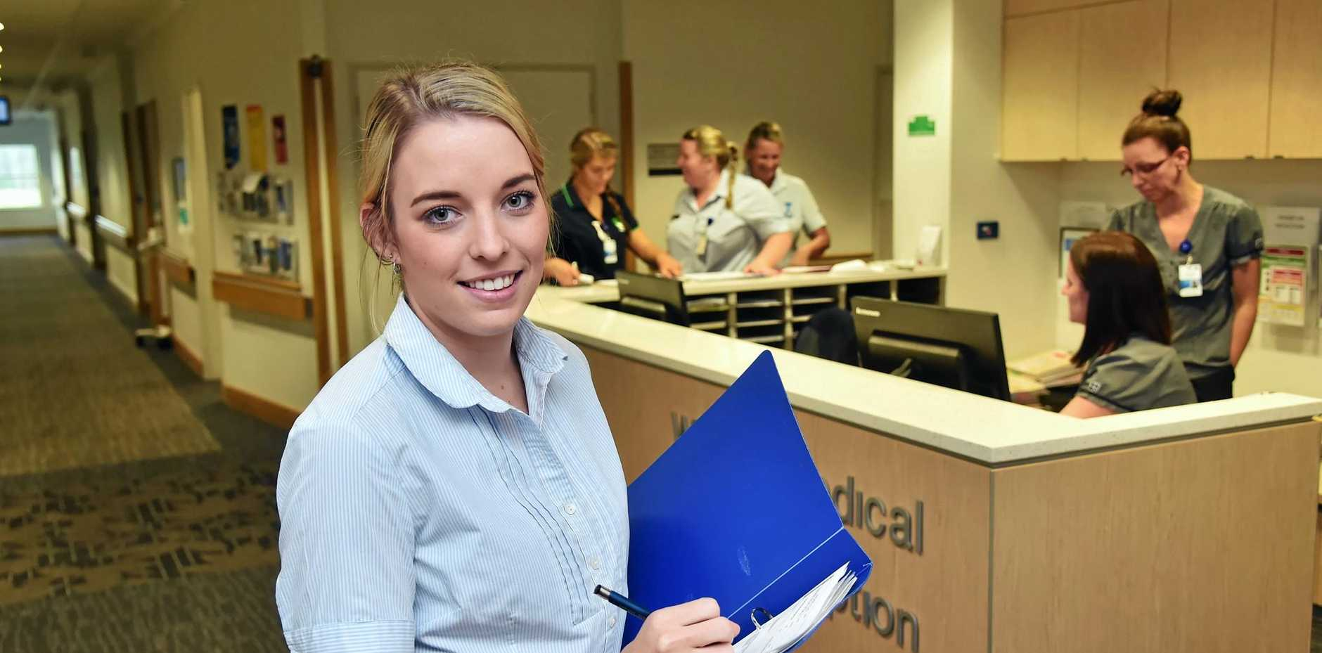 Registered nurse Ashleigh Coombs is one of more than 600 staff employed at the Sunshine Coast University Private Hospital.