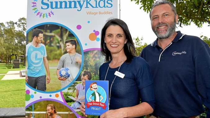 Rachel Witton and Chris Turner, from SunnyKids, at the launch of their Village Buddies program.