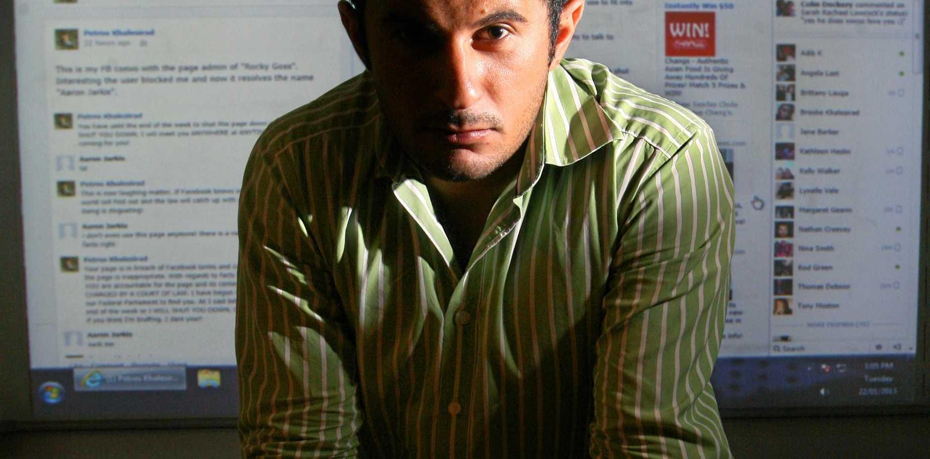 Accused stalker Petros Khalesirad.