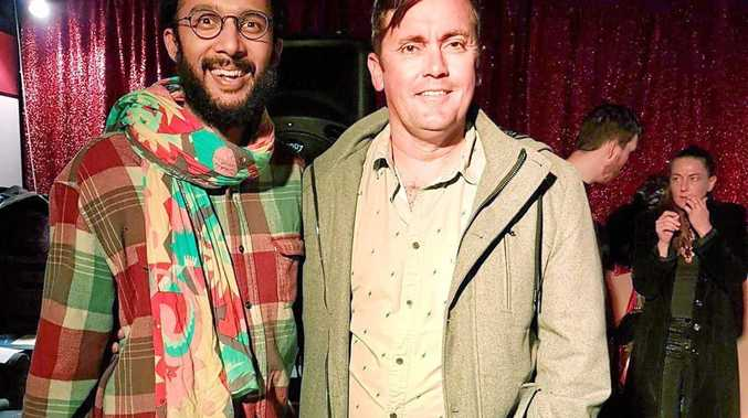 GREEN NATION: Brett Morrissey (right) launched his mayoral campaign at West Ipswich's Coronation Hotel on Friday night with Brisbane councillor Jonathan Sri.