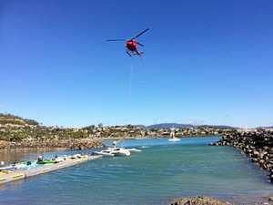 Flying trimaran dropped for Race Week