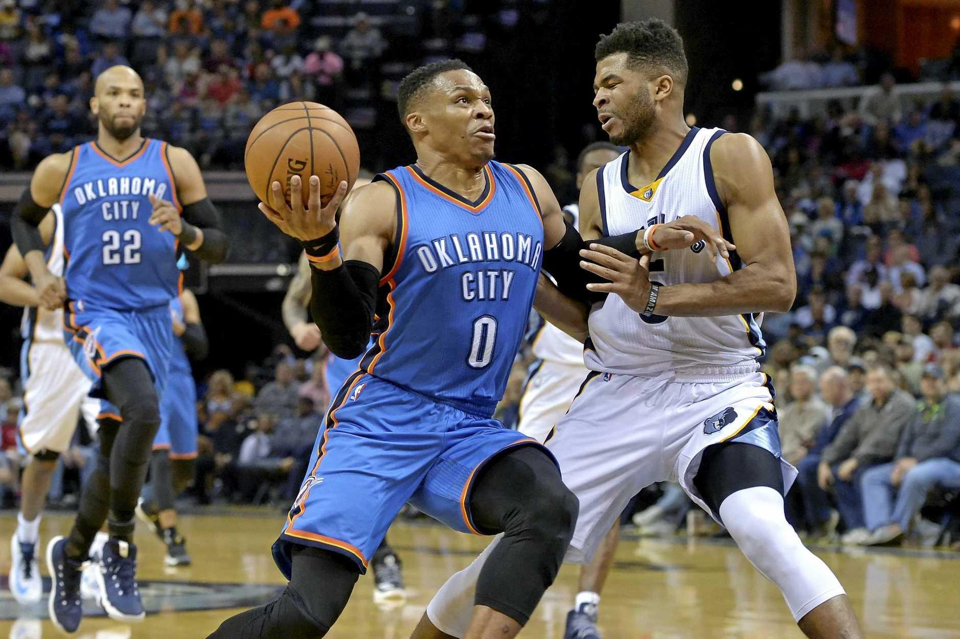 Oklahoma City Thunder superstar Russell Westbrook.