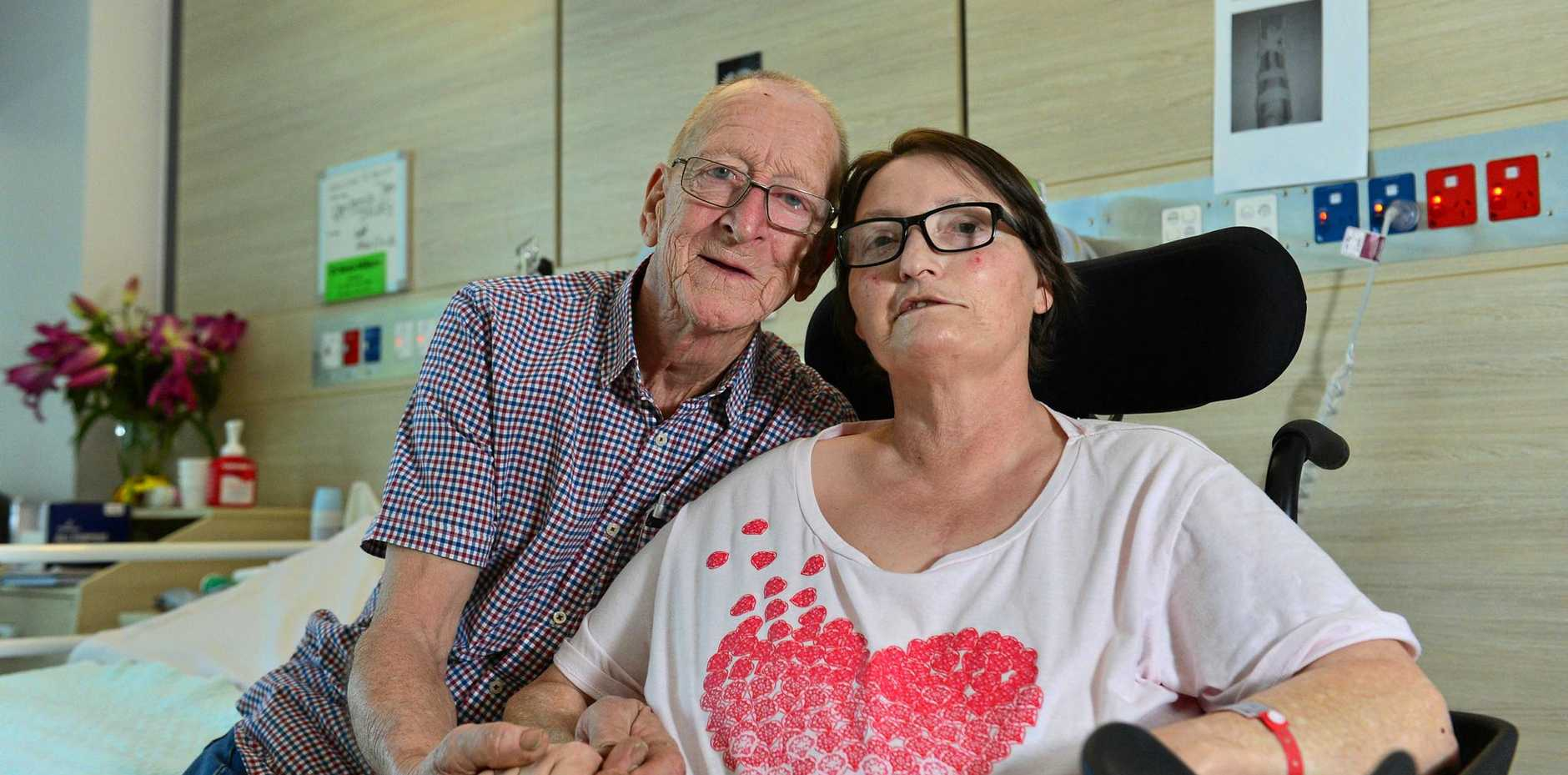 Antonia Drury has been in hospital for 4 months after a game of cricket which left her with a broken hip, then 3 heart attacks and a stroke. Her husband Vic has been by her side since.