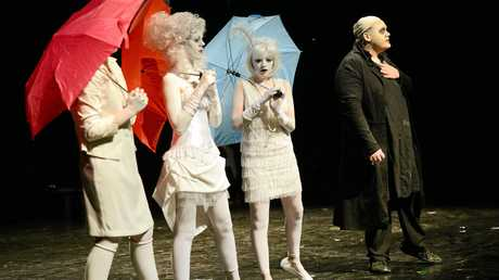 The school hosted a free matinee performance of The Addams Family musical.