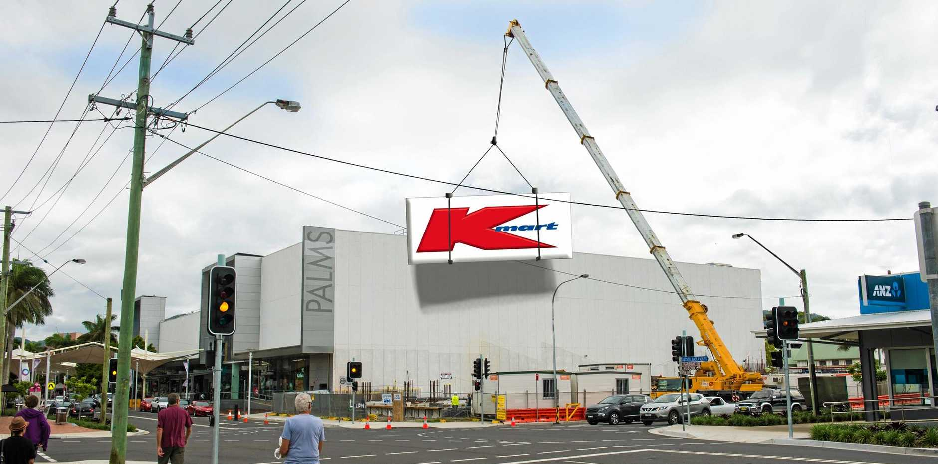 SIGN OF THE TIMES: With construction going to plan, team members are being sought by Kmart Coffs Harbour